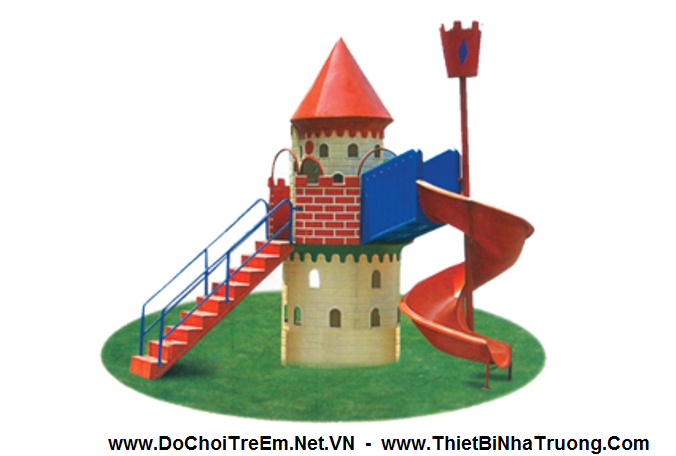 Cầu trượt hình lâu đài