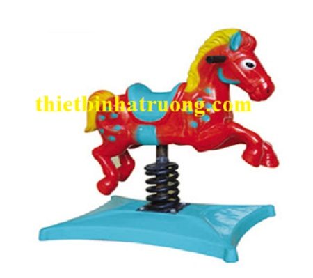 Thú nhún lò xo hình con ngựa đỏ
