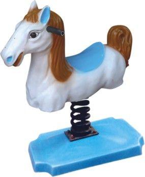 Thú nhún lò xo con ngựa trắng