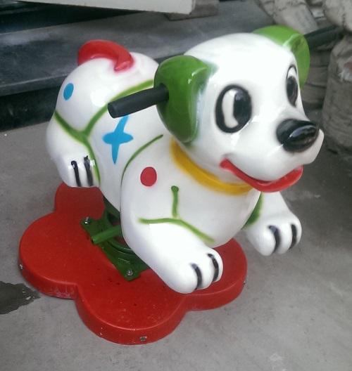 Nhún lò xo hình con chó trắng