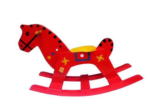 Ngựa gỗ bập bênh đầu dài