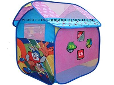 Lều bóng hình nhà màu xanh