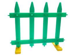Hàng rào lắp ghép lớn Nhât Minh màu xanh