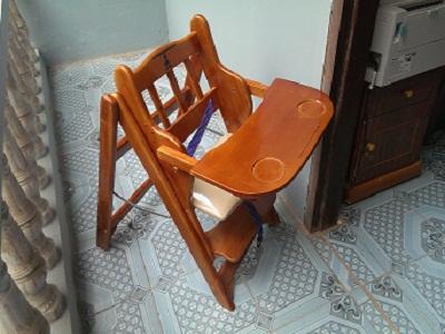 Ghế ăn bột 4 tầng có đệm