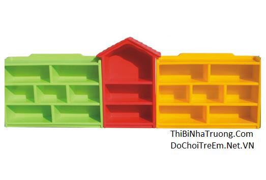 Bộ giá đồ chơi 3 khối mái nhà