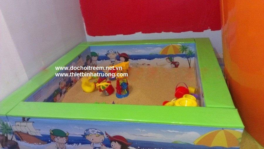 Bể khung gỗ bọc da in sắc mầu