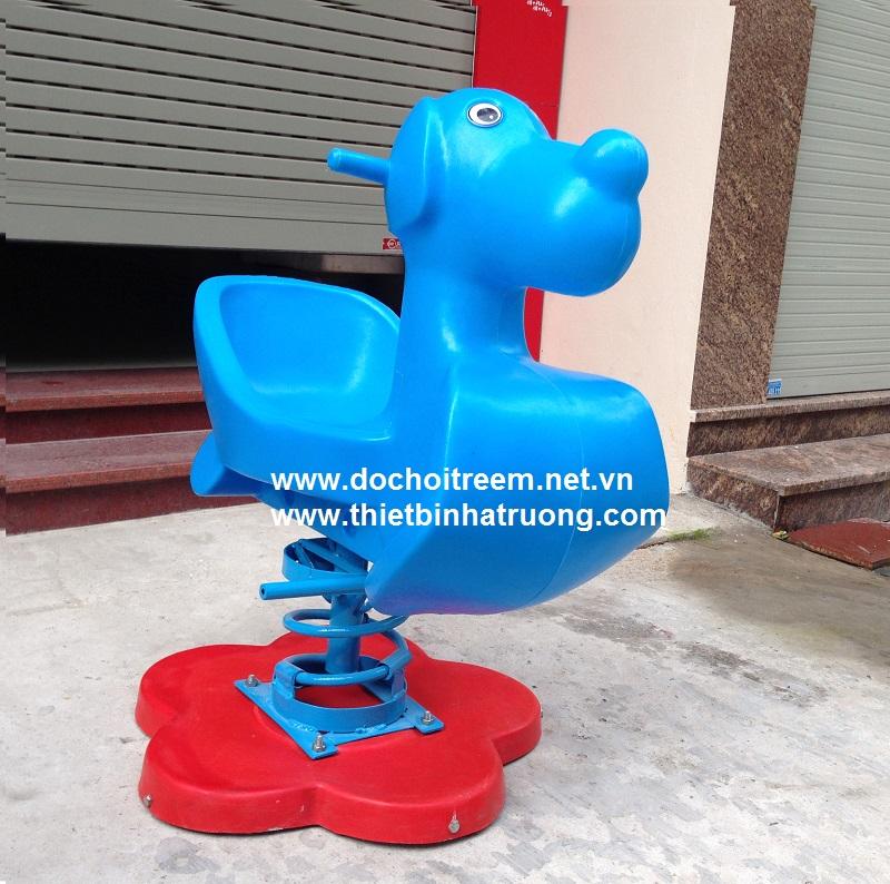 Thú nhún hình chú chó xanh