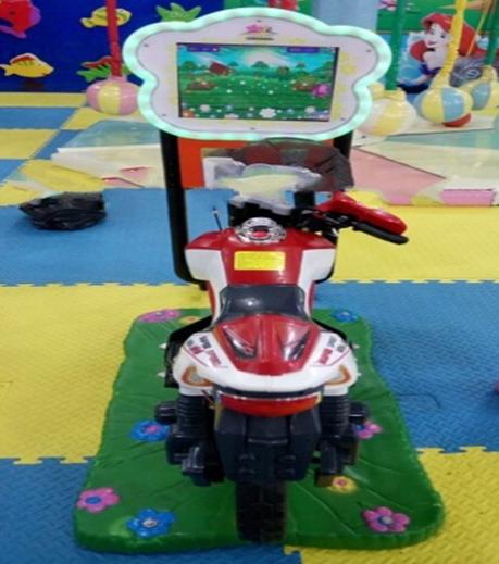 Máy nhún đua xe máy trẻ em.